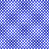 Smooth Diagonal Gingham Seamless Pattern. Smooth diagonal blue and white classic gingham texture vector illustration