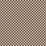 Smooth Diagonal Gingham Seamless Pattern. Smooth diagonal brown and white classic gingham texture royalty free illustration