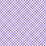 Smooth Diagonal Gingham Seamless Pattern. Smooth diagonal light purple and white classic gingham texture vector illustration