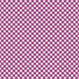 Smooth Diagonal Gingham Seamless Pattern. Smooth diagonal magenta pink and white classic gingham texture vector illustration