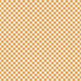 Smooth Diagonal Gingham Seamless Pattern. Smooth diagonal orange and white classic gingham texture royalty free illustration