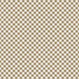 Smooth Diagonal Gingham Seamless Pattern. Smooth diagonal tan and white classic gingham texture royalty free illustration