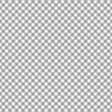Smooth Diagonal Gingham Seamless Pattern. Smooth diagonal gray and white classic gingham texture stock illustration