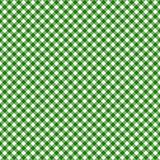 Smooth Diagonal Gingham Seamless Pattern. Smooth diagonal green and white classic gingham texture vector illustration