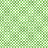 Smooth Diagonal Gingham Seamless Pattern. Smooth diagonal lime green and white classic gingham texture stock illustration