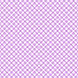 Smooth Diagonal Gingham Seamless Pattern. Smooth diagonal pink and white classic gingham texture stock illustration