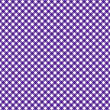 Smooth Diagonal Gingham Seamless Pattern. Smooth diagonal purple and white classic gingham texture royalty free illustration