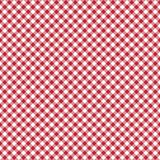 Smooth Diagonal Gingham Seamless Pattern. Smooth diagonal red and white classic gingham texture stock illustration
