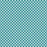 Smooth Diagonal Gingham Seamless Pattern. Smooth diagonal teal and white classic gingham texture royalty free illustration