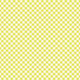 Smooth Diagonal Gingham Seamless Pattern. Smooth diagonal yellow and white classic gingham texture vector illustration
