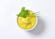 Smooth Dijon mustard Royalty Free Stock Photos