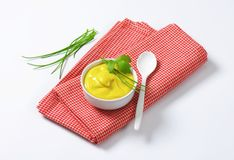Smooth Dijon mustard Royalty Free Stock Image