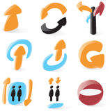 Smooth directions icons Royalty Free Stock Image
