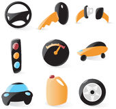Smooth drive icons Royalty Free Stock Images