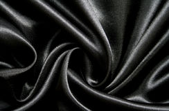Smooth elegant black silk as background Royalty Free Stock Photo