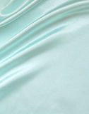 Smooth elegant blue silk as background Royalty Free Stock Photo