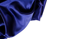 Smooth elegant blue silk Stock Photography