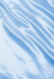 Smooth elegant blue silk or satin as background Stock Photo