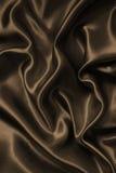 Smooth elegant brown chocolate silk as background Royalty Free Stock Image