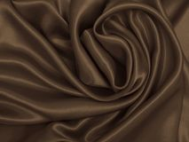 Smooth elegant brown silk or satin texture as abstract backgroun. Smooth elegant brown silk or satin texture can use as abstract background. Luxurious background Stock Photography