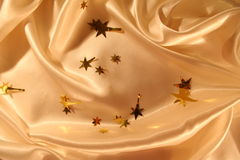 Smooth elegant gold satin background Royalty Free Stock Photo