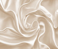 Smooth elegant golden silk or satin as wedding background. In Se Royalty Free Stock Photography