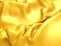 Smooth elegant golden silk soft cloth background Royalty Free Stock Photography