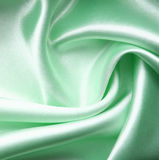 Smooth elegant green silk as background Royalty Free Stock Photos
