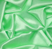 Smooth elegant green silk as background Royalty Free Stock Photography