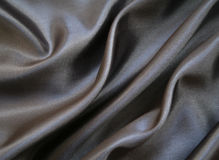Smooth elegant grey silk as background Royalty Free Stock Photo