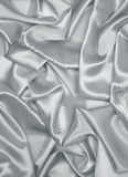Smooth elegant grey silk or satin as background Royalty Free Stock Photography