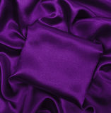 Smooth elegant lilac silk or satin luxury cloth texture as abstr Royalty Free Stock Image