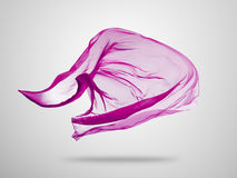 Smooth elegant pink cloth on grey background Royalty Free Stock Images