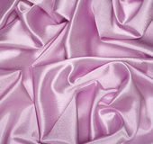 Smooth elegant pink silk as background Stock Photos