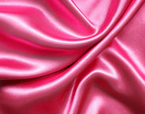 Smooth elegant pink silk Stock Photo