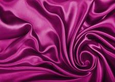 Smooth elegant pink silk or satin texture as background Stock Photos