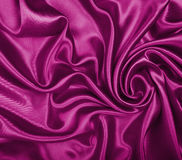 Smooth elegant pink silk or satin texture as background Stock Photos