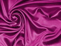 Smooth elegant pink silk or satin texture as background Stock Photography
