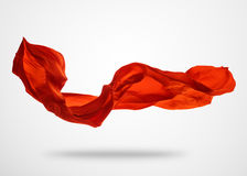 Smooth elegant red cloth on gray background Stock Image