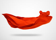 Smooth elegant red cloth on gray background Royalty Free Stock Images