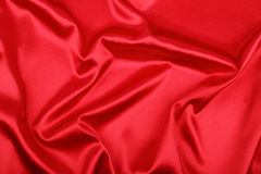 Smooth elegant red material Stock Photos
