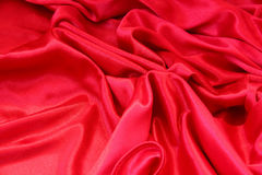 Smooth elegant red silk Royalty Free Stock Image