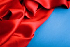 Smooth elegant red silk Royalty Free Stock Photo