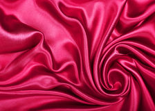 Smooth elegant red silk as background Stock Photography
