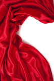 Smooth elegant red silk can use as background Royalty Free Stock Images