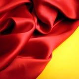 Smooth elegant red silk Stock Photos
