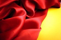 Smooth elegant red silk Royalty Free Stock Images