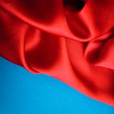Smooth elegant red silk Royalty Free Stock Photos