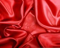 Smooth elegant red silk or satin as background Royalty Free Stock Photos