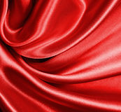 Smooth elegant red silk or satin as background Royalty Free Stock Images